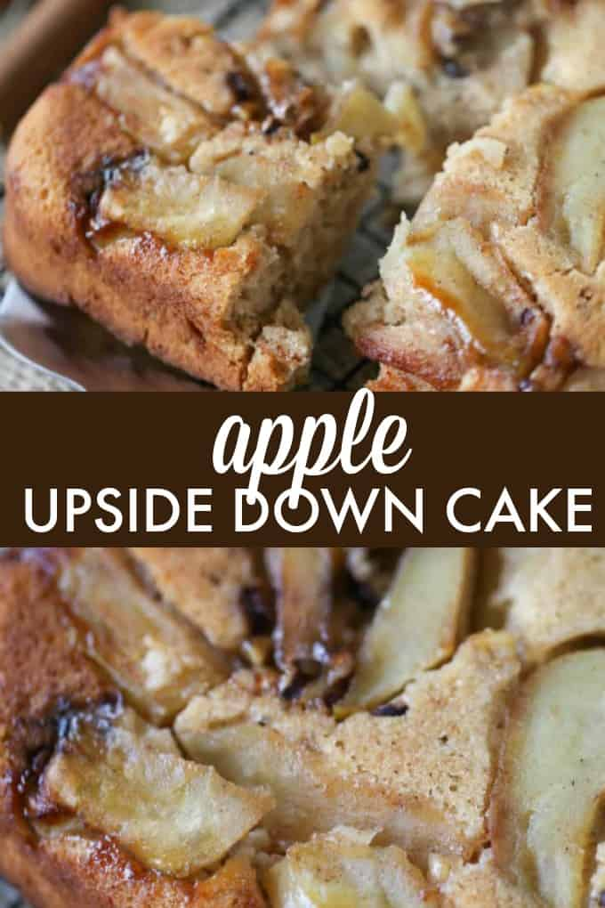 Apple Upside Down Cake - You've had pineapple, now try apple! This amazing fall take on a classic dessert will wow at every holiday and potluck.