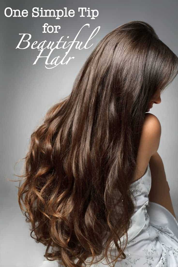 One Simple Tip for Beautiful Hair - this one simple tip for beautiful hair will help on those days you are running late and don't have time to shower!