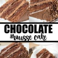 Chocolate Mousse Cake - Luscious and rich, this dessert recipe will satisfy your sweet tooth!