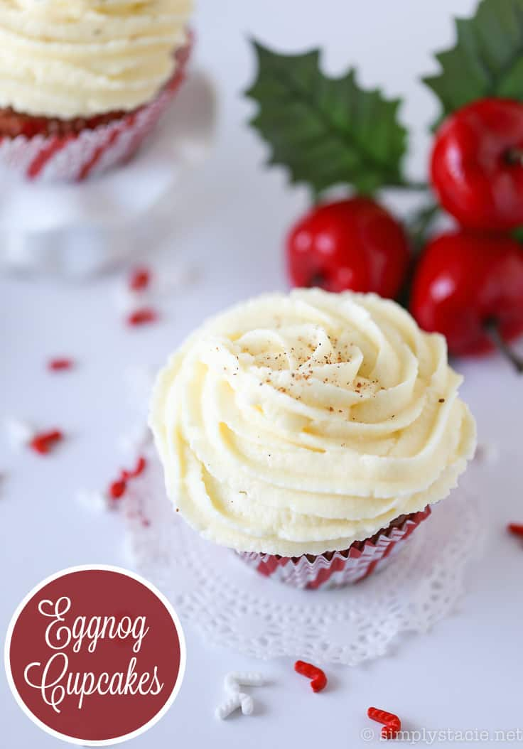 Eggnog Cupcakes - Christmas is calling! Eat your eggnog with this delicious and decadent dessert.