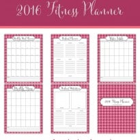 Free 2016 Fitness Planner Printables