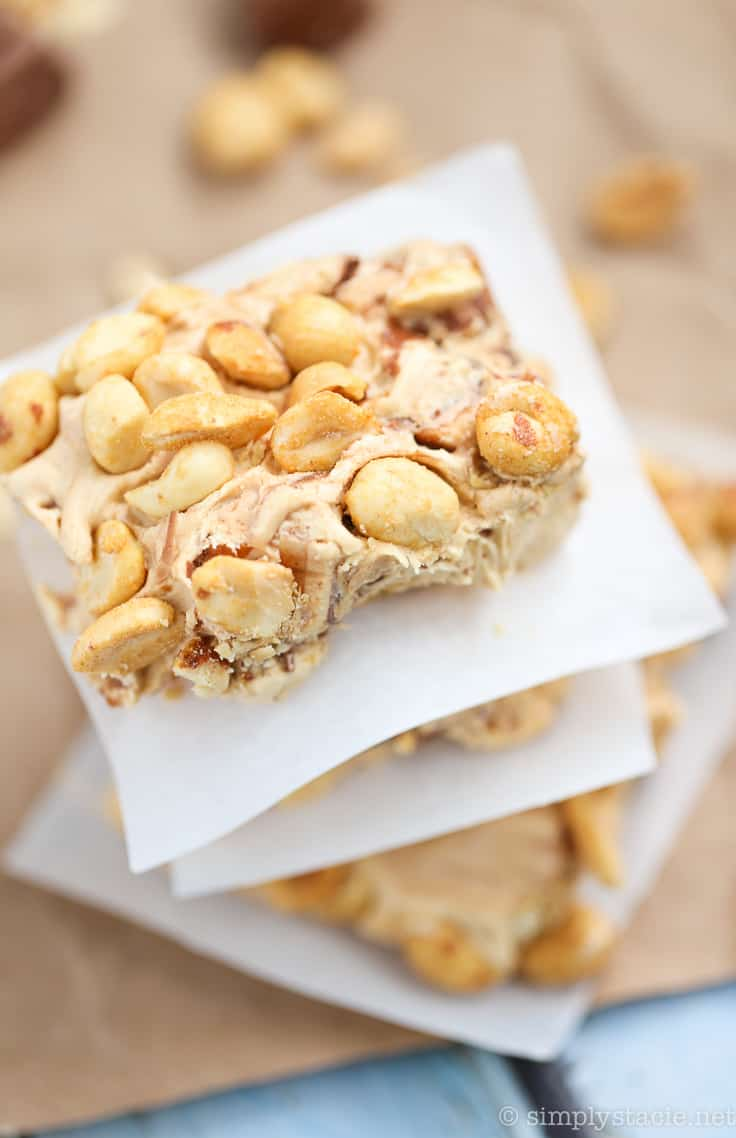 No-Bake Nougat Bars - Prepare for a sticky sweet explosion with this easy no-bake dessert recipe! Only 6 ingredients. I make this recipe every Christmas.