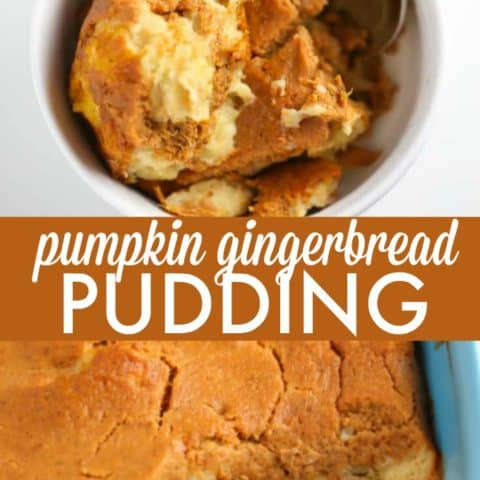 Pumpkin Gingerbread Pudding - Serve this delicious Pumpkin Gingerbread Pudding recipe for breakfast or dessert! Another big bonus is that it's an IBS-friendly recipe, too.