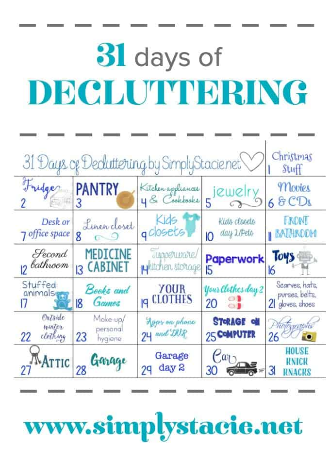 31 Days Of Decluttering Simply Stacie