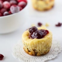 Cranberry White Chocolate Cheesecake