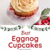 eggnog cupakes collage