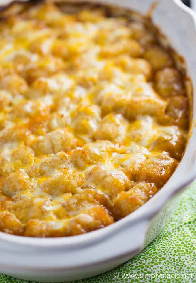 Mexican Tater Tot Casserole - Simply Stacie