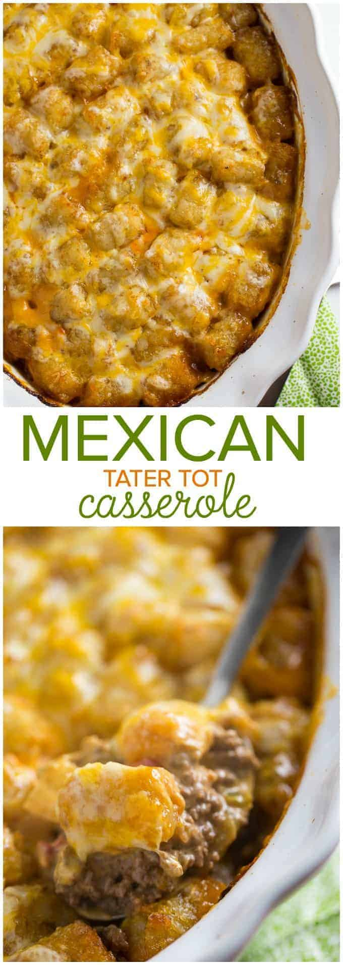 Mexican Tater Tot Casserole - This easy casserole recipe was a hit with my family! It was spicy, hearty and tasty. Comfort food for the win.