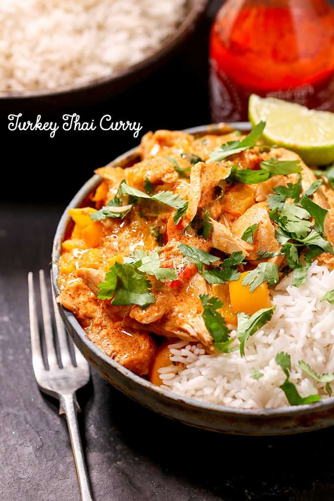 Turkey Thai Curry - Great way to use leftover turkey! This weeknight meal is a 20-minute dish with the flavors of an all-day simmer.
