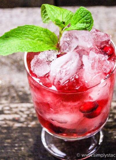 Cranberry Mint Mocktail