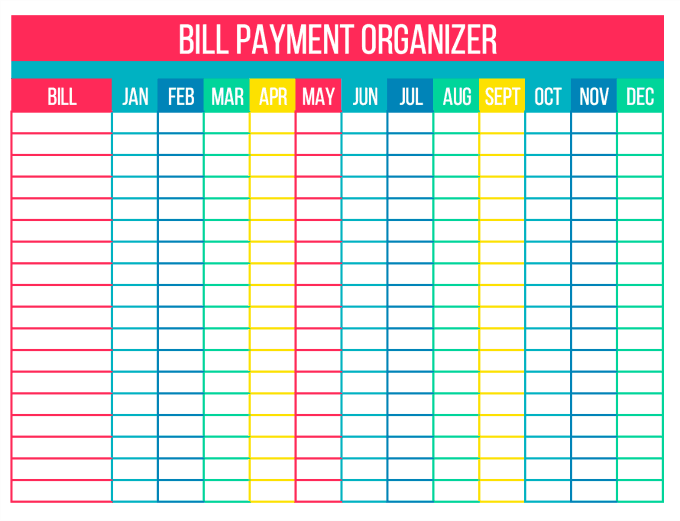 graphic about Printable Monthly Bill Organizer called Arrange Your Expenditures with Cost-free Printables - Only Stacie