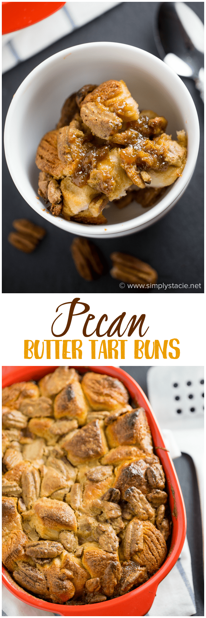 Pecan Butter Tart Buns - A cross between Pecan Butter Tarts, Chelsea Buns and Monkey Bread. These three desserts are combined together to create an indulgent delight!