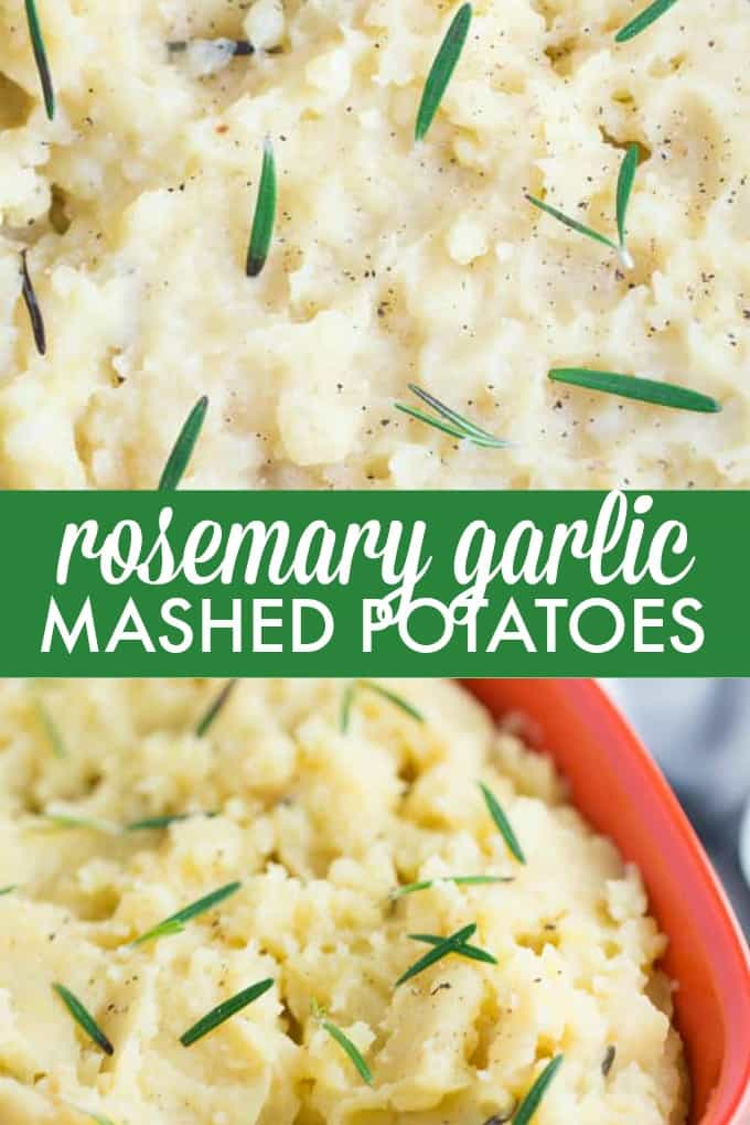 Slow Cooker Rosemary Garlic Mashed Potatoes are the best way to make potatoes. Creamy, rich, garlicky flavor in every bite. These creamy mashed potatoes are the perfect weeknight side dish, or serve up for a crowd this holiday season.