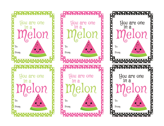 Watermelon Printable Valentine's Day Cards - Simply Stacie