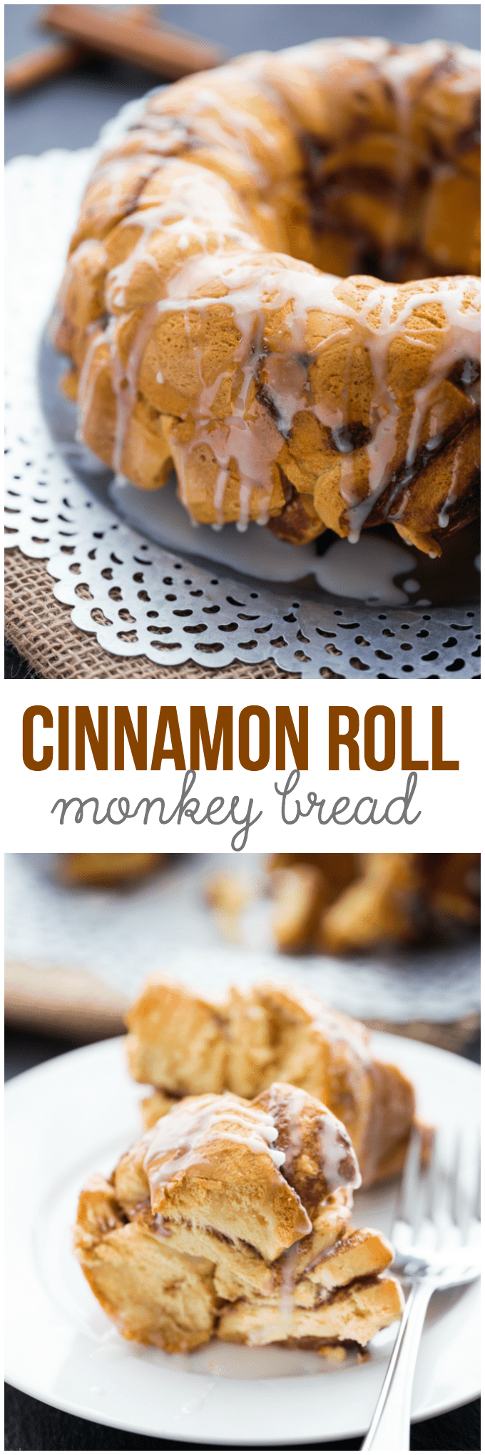 Cinnamon Roll Monkey Bread - You'll love this easy dessert hack! Instead of making cinnamon rolls, give this scrumptious monkey bread recipe a try.