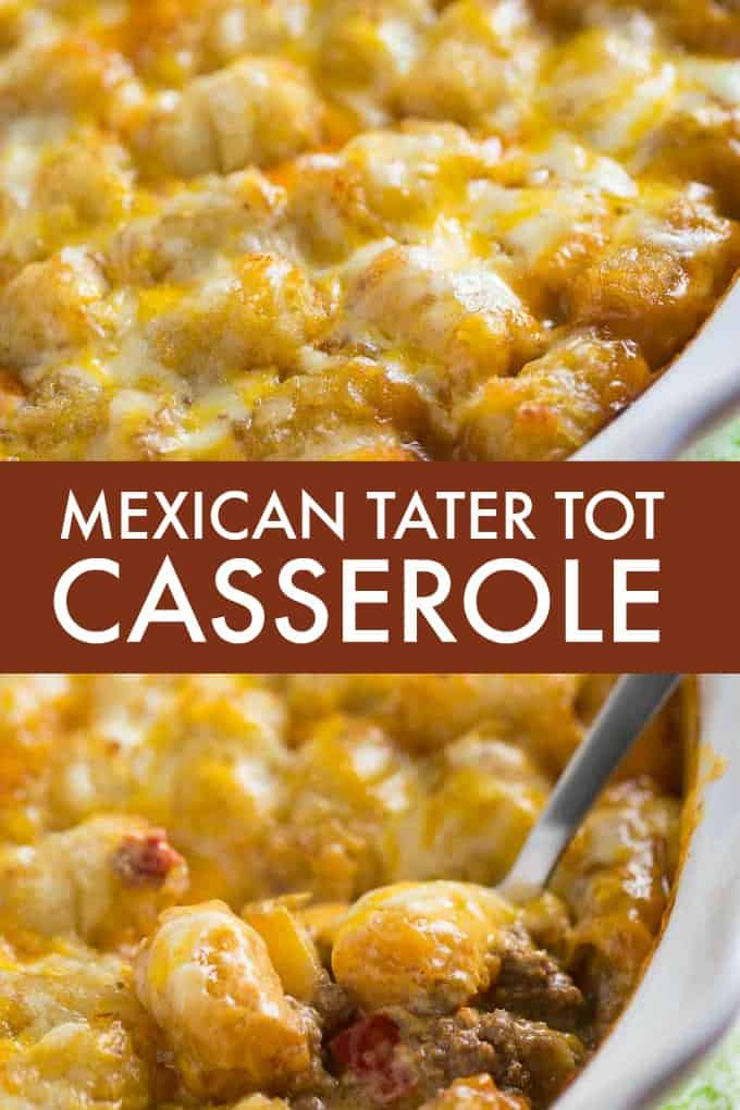 Mexican Tater Tot Casserole - This easy recipe was a hit with my family! It was spicy, hearty and tasty. Comfort food for the win.