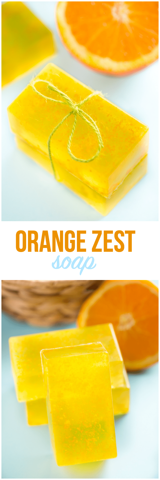 Orange Zest Soap - Fresh and invigorating! Make up a batch of this lovely glycerine soap for your family in under an hour.