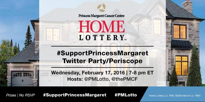 Join the #SupportPrincessMargaret Twitter Party & Periscope on February 17th
