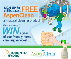 Get a handle on paper clutter and get a free cleaning product when you sign up for e-Bills with Toronto Hydro!