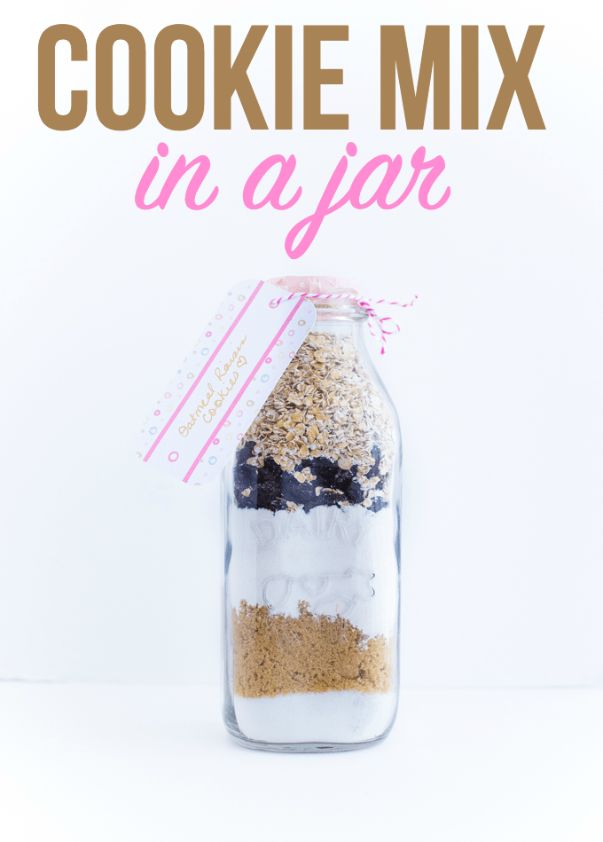 Cookie Mix in a Jar - Layered cookie ingredients makes for a beautiful gift and yummy dessert. Love this gift idea for Mother's Day!