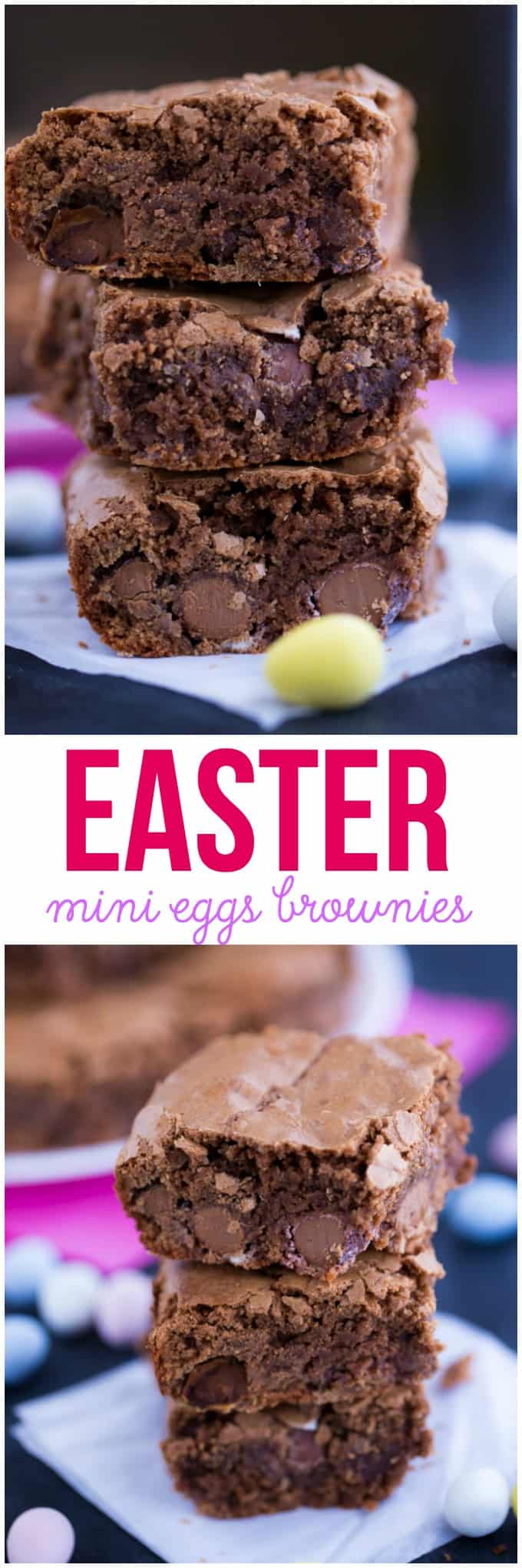 Easter Mini Eggs Brownies - Add a little Easter fun to your next batch of brownies! This recipe is always a hit with my family.