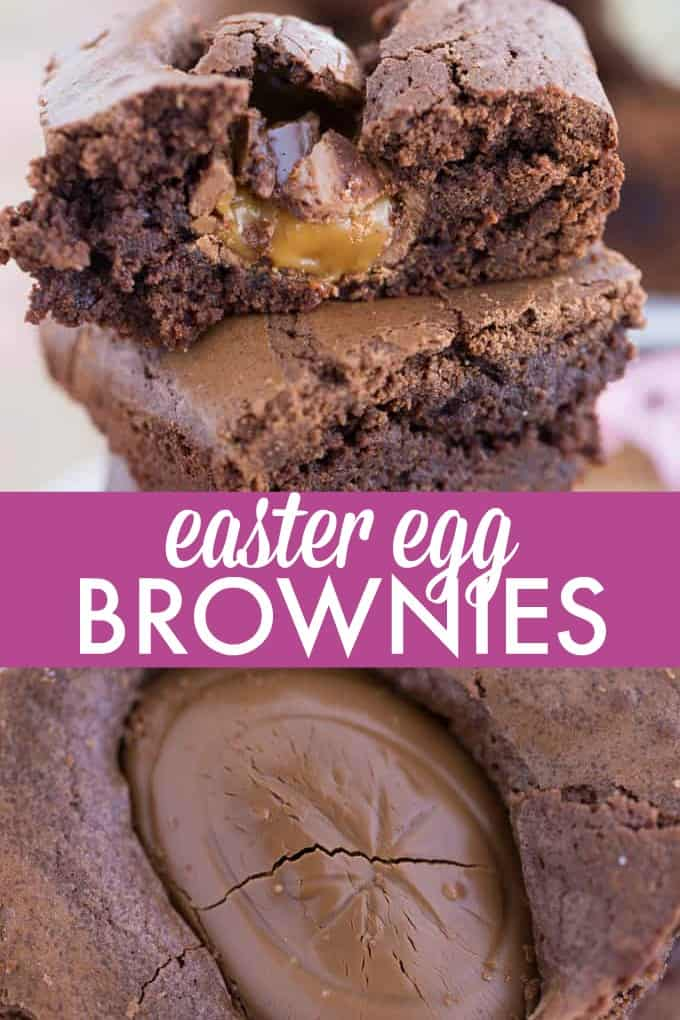 Easter Egg Brownies - Meet the richest, chewiest, most mouthwatering brownies of your life! Who knew adding a Cadbury Easter Egg could create such a mouthwatering masterpiece.