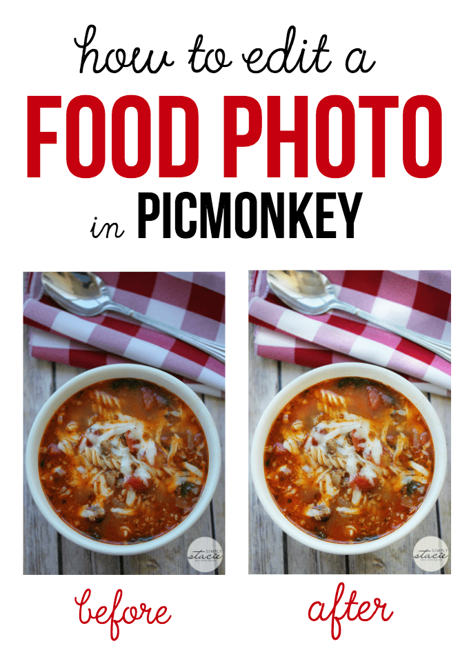 How to Edit a Food Photo in PicMonkey - Try this simple step-by-step tutorial and make your food photos pop! It's amazing what a difference a few simple changes can make.