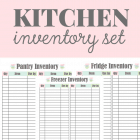 Kitchen Inventory Printables
