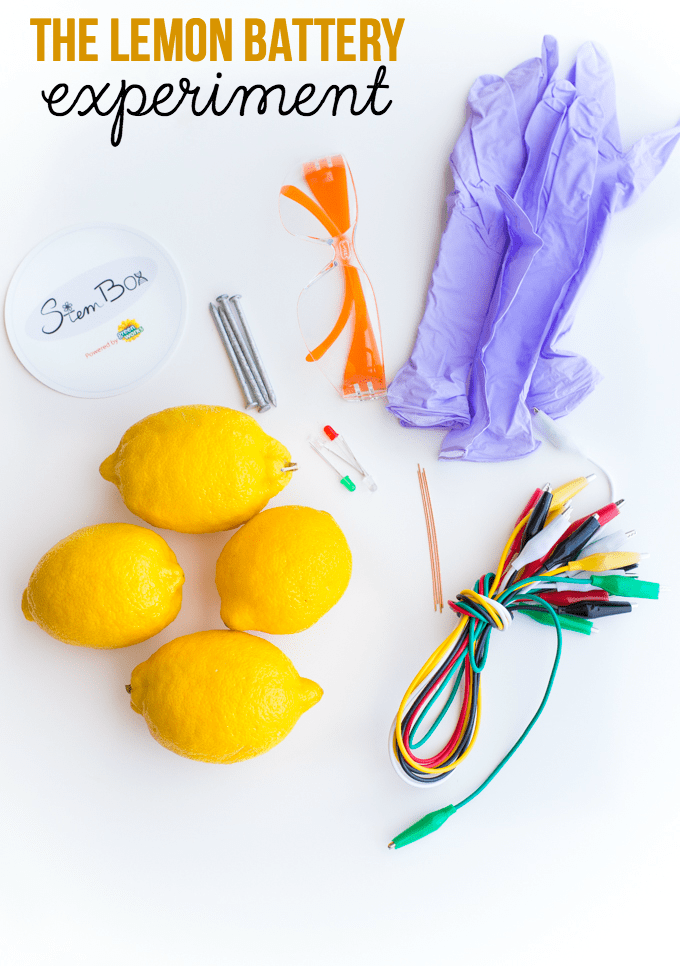 The Lemon Battery Experiment - Inspire girls to have fun with science with this Lemon Battery experiment from StemBox, a monthly science subscription box for girls!