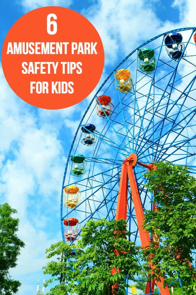 6 Amusement Park Safety Tips for Kids - must-read tips for anyone heading to an amusement park this summer with their family! Stay safe and have fun.