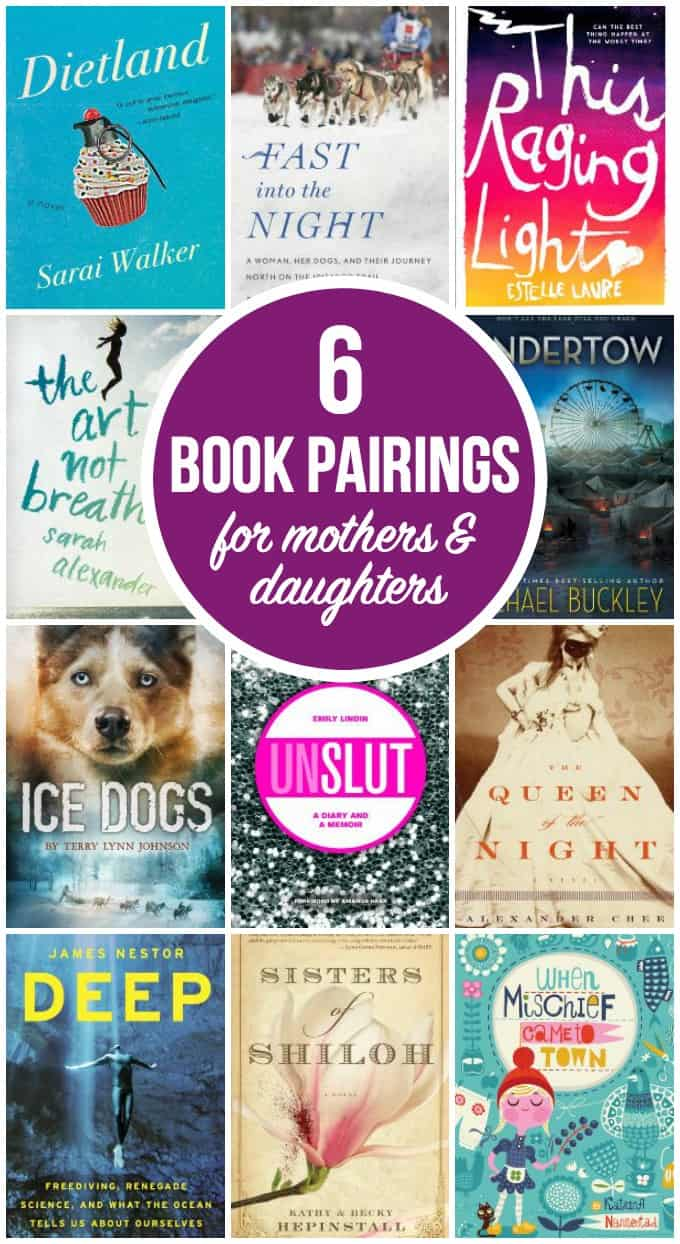 6 Book Pairings for Mothers & Daughters - Share the reading experience with your child and have interesting discussions about the similar themes in each of these book sets.