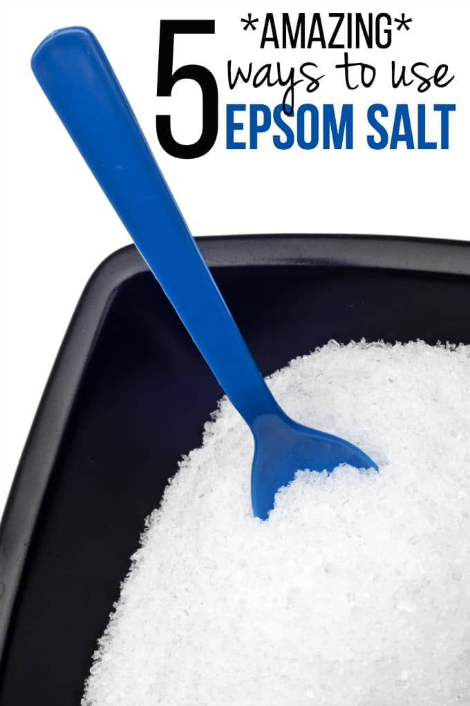 5 Amazing Ways to Use Epsom Salt - Who knew a salt could be so versatile!?