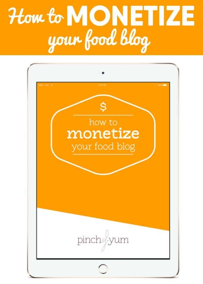 How to Monetize Your Food Blog - This ebook goes over the nitty gritty to get started making money on your food blog today!