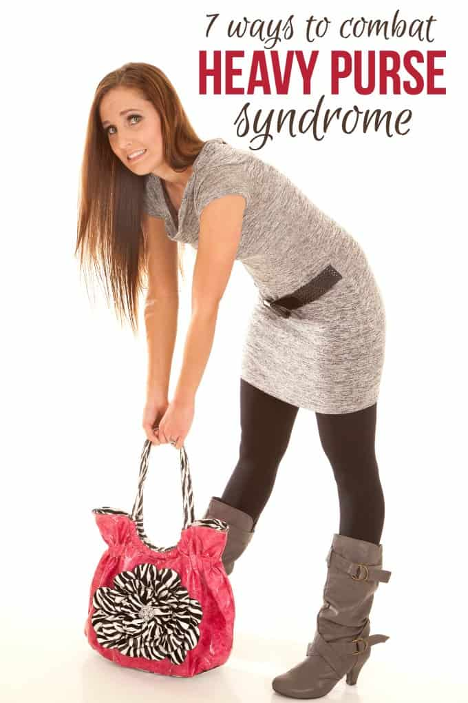 7 Ways to Combat Heavy Purse Syndrome - It's true. Your purse can cause back pain. These simple strategies can help!