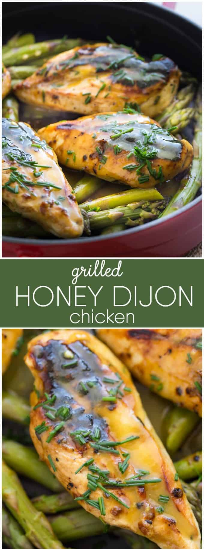 Grilled Honey Dijon Chicken - Moist, tender, flavourful and EASY! Your family will be asking you to make this recipe again and again.