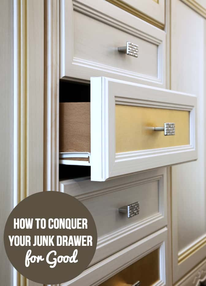 How to Conquer Your Junk Drawer for Good - Because we ALL have one in our kitchen! Try these simple tips to keep it organized.