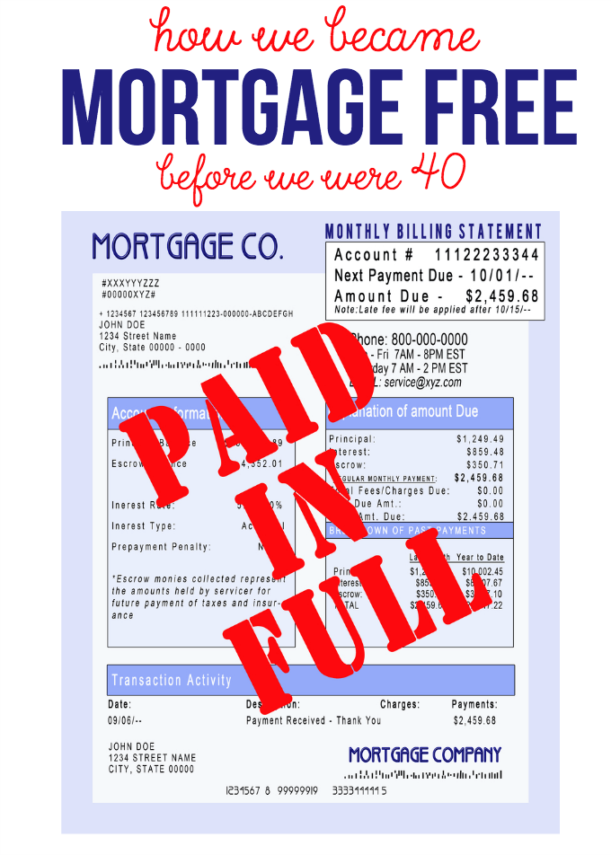 How We Became Mortgage Free Before We Were 40 - the strategy we used and what worked for us!