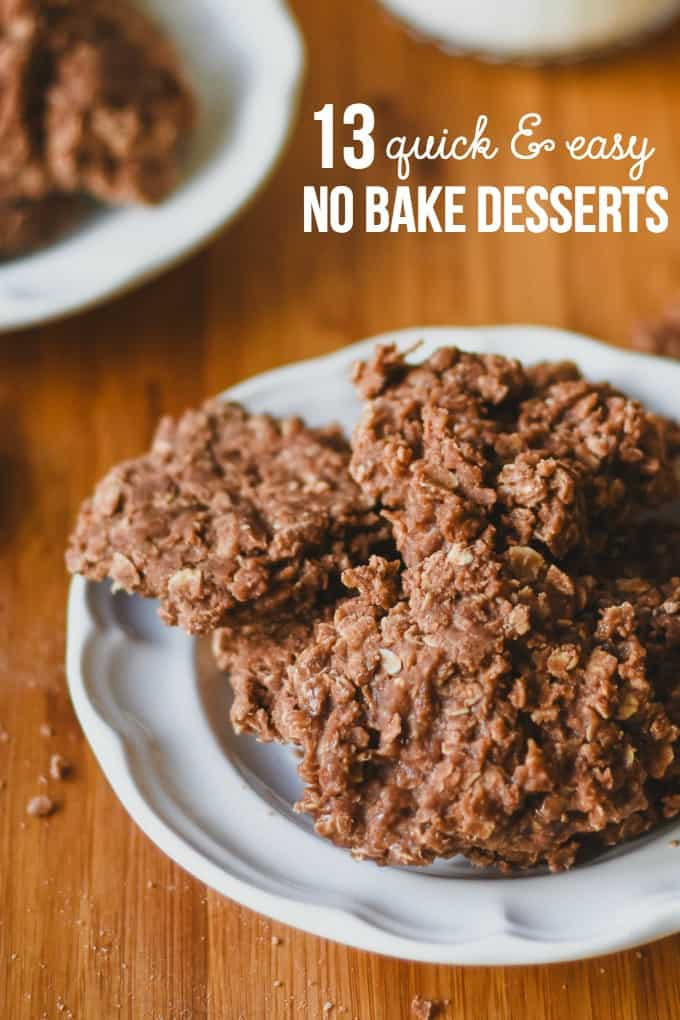 Quick and easy no bake desserts for Quick dessert recipes with pictures