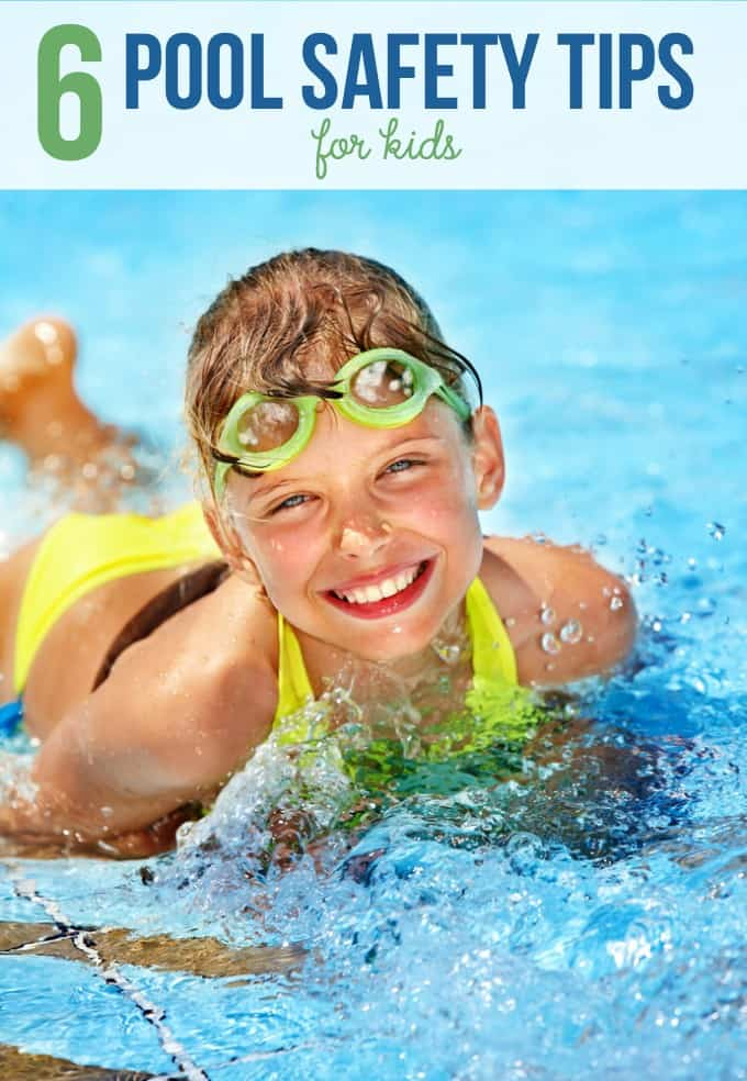 6 Pool Safety Tips for Kids - Pools are a great way to cool off in the summer heat, but they can be a dangerous spot. Follow these tips to prevent mishaps!