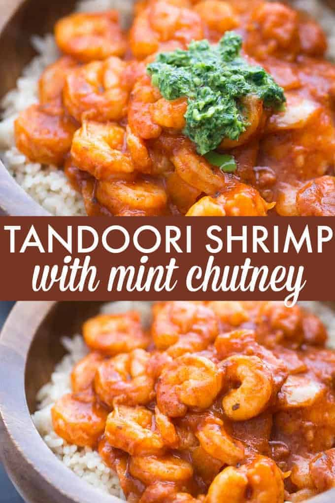 Tandoori Shrimp with Mint Chutney - Bring a taste of India to your kitchen tonight! Make this mild seafood dish full of flavor in less than 20 minutes.