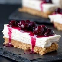 Blueberry Lemon Cheesecake Bars square
