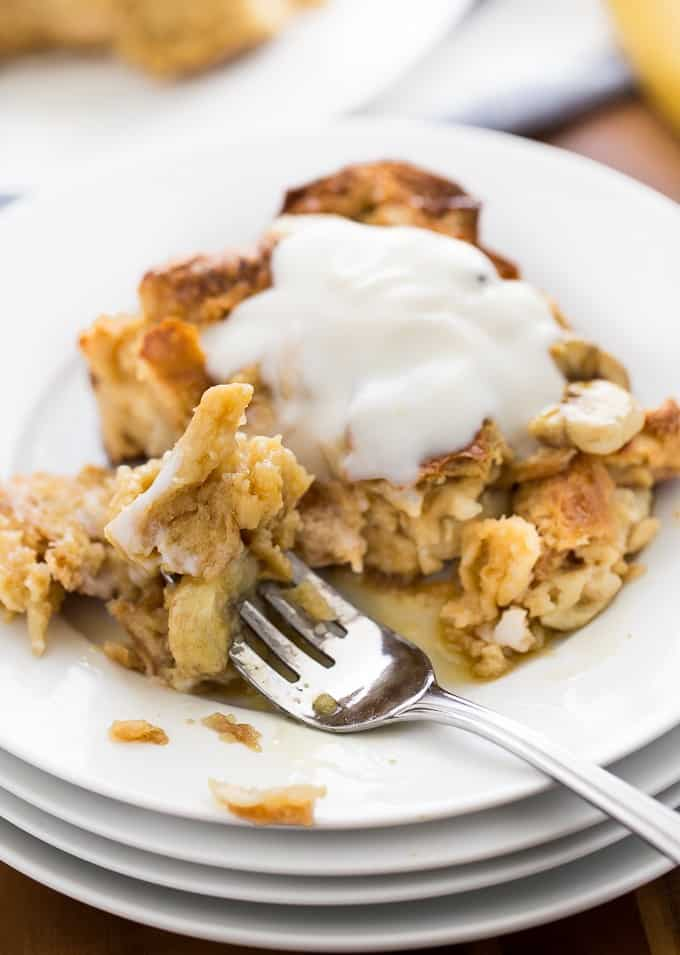 Banana Bread Breakfast Casserole Use Up Your Brown Bananas And Leftover Bread In This Crowd