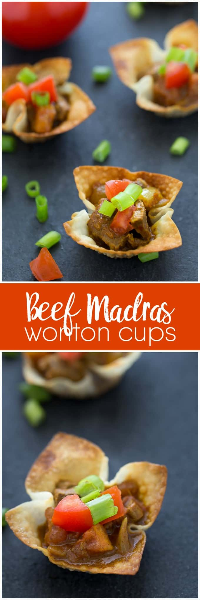 Beef Madras Wonton Cups - This summer appetizer packs a mean punch of flavour!