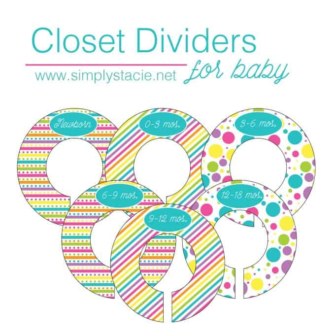 graphic regarding Printable Closet Dividers identify Closet Dividers for Little one - Conveniently Stacie
