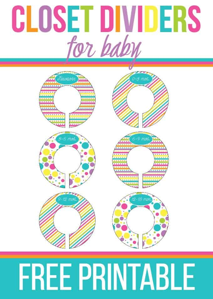 Printable baby closet dividers roselawnlutheran for Clothes divider template