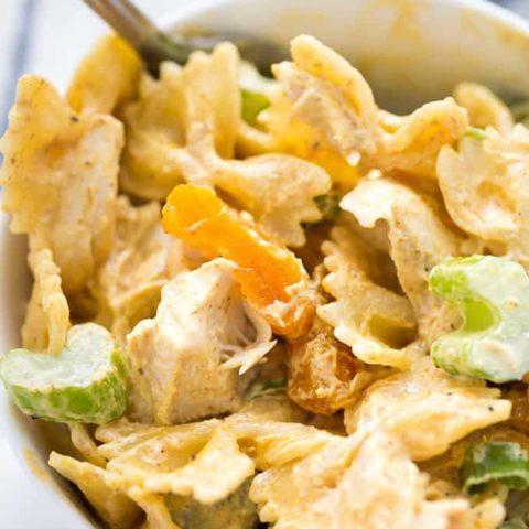 Creamy Curried Chicken Pasta Salad