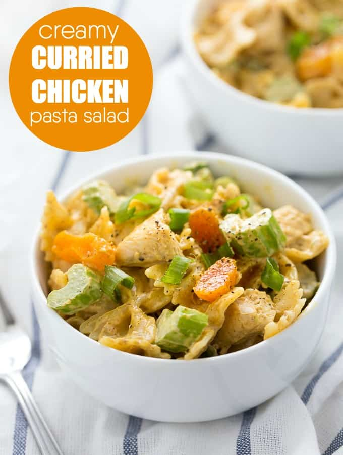 Creamy Curried Chicken Pasta Salad - Simply Stacie