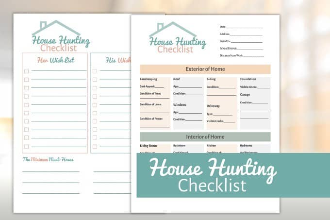 House Hunting Checklist - Stay organized and make decision making easier with this free House Hunting Checklist printable.