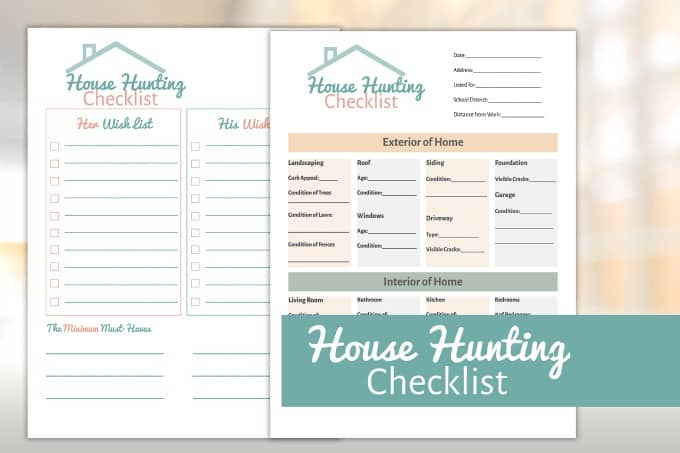House Hunting Checklist Simply Stacie
