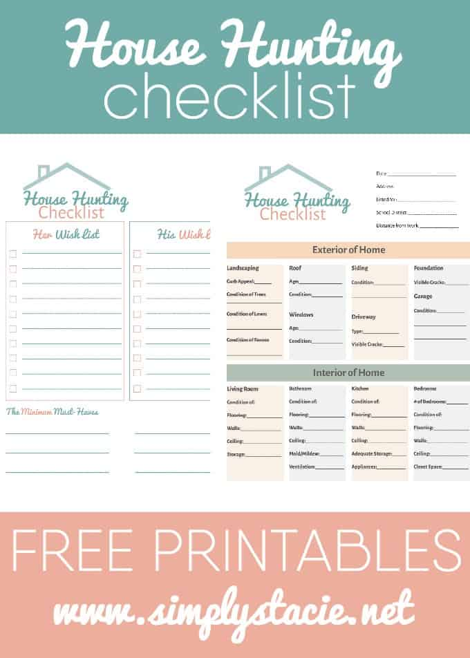 House Hunting Checklist - Simply Stacie